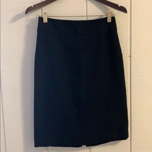 Winter black pencil skirt